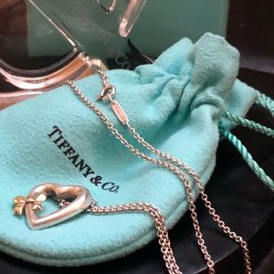 TIFFANY & Co. 2 Tone silver/18 Kt Gold necklace